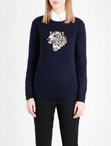 Markus Lupfer Leopard merino wool jumper