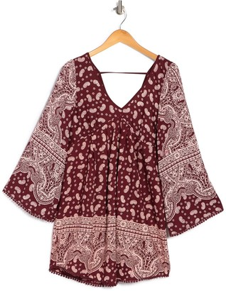 Nostalgia Apparel Paisley Bell Sleeve Shift Dress