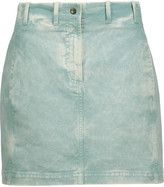 Roberto Cavalli Lace-up denim mini skirt