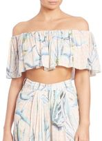 Mara Hoffman Aloe Off-Shoulder Crop Top