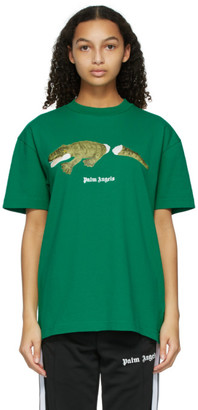 Palm Angels Green Croco T-Shirt