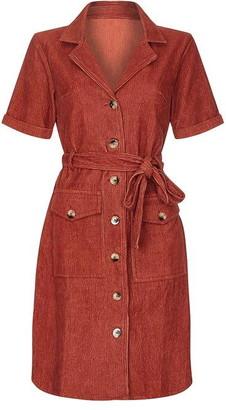 Yumi Ribbed Shirt Dress