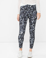 White House Black Market Abstract Floral Print Leggings
