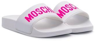 MOSCHINO BAMBINO Logo Printed Slides