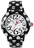 Betsey Johnson Polka Dot Expansion Band Stainless Steel Analog Bracelet Watch