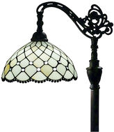 AMORA Amora Lighting AM121FL12 Tiffany Style Jewel Reading Lamp 62 In