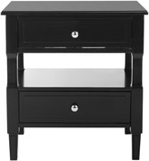 The Well Appointed House Black Two Drawer Night Stand