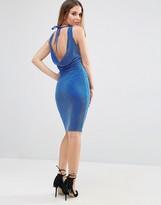 Jessica Wright Lurex Glitter Dress With Tie Back