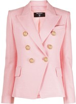Balmain double-breasted peaked blazer