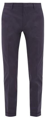 Paul Smith Slim-leg Cotton-blend Twill Chinos - Mens - Navy