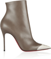 Christian Louboutin Calamijane 100 cap-toe leather ankle boots