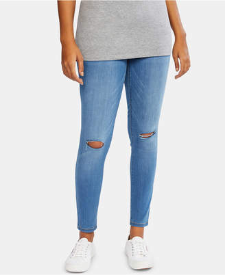 Motherhood Maternity Bounceback Post Pregnancy Destructed Skinny Jeans