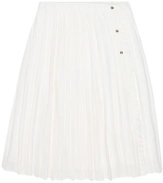 Chloé Kids Pleated crepe skirt