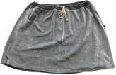 Jean Paul Gaultier Grey Velvet Skirts