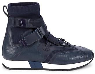 Versace Grip-Tape High-Top Sneakers