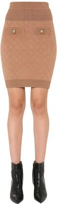 Balmain Short Knit Skirt