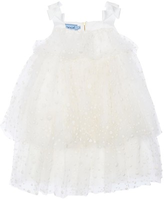 Mi Mi Sol Dotted Stretch Tulle Party Dress