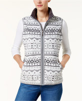 Karen Scott Printed Fleece Vest, Created for Macy's