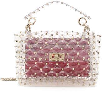 Valentino Garavani Rockstud Spike Plexi Medium Shoulder Bag