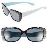 Christian Dior Women's 'Lady' 55Mm Retro Sunglasses - Green/ Havana/ White/ Blue