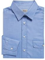 Brioni Stitch Detail Cotton Dress Shirt
