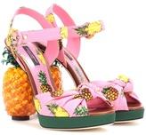 Dolce & Gabbana Embellished crêpe sandals