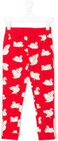 Stella McCartney swan print leggings