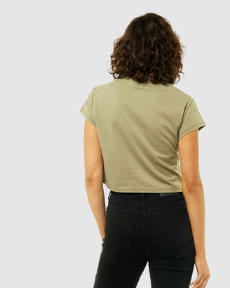 Rusty Women's Short Sleeve T-Shirts Must Essentials Crop Tee - Size One Size, 6 at The Iconic