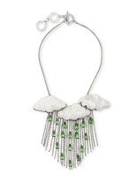 Forest of Chintz Silver lining 3 clouds Necklace