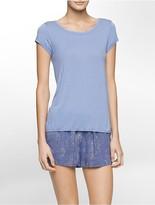 Calvin Klein Cotton Modal Short Sleeve Top