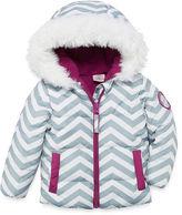U.S. Polo Assn. Heavyweight Chevron Puffer Jacket - Girls-Baby