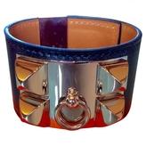 Hermes leather bracelet with po.