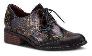 L'Artiste Women's Elvie Snake Print Oxfords Women's Shoes