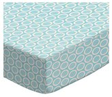 SheetWorld Extra Deep Fitted Portable / Mini Crib Sheet - Pastel Bubbles Woven - Made In USA