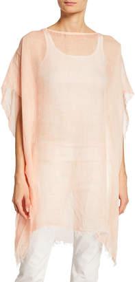 Eileen Fisher Plus Size Maltinto Linen Poncho