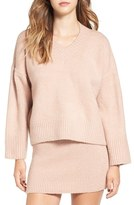 Lucca Couture Women's Oversize V-Neck Sweater
