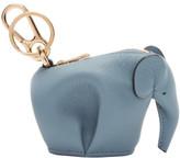 Loewe Blue Elephant Charm Keychain