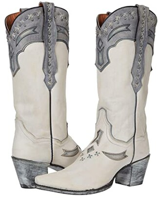 Dan Post Shiver (White Leather) Women's Boots