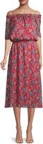 Ava & Aiden Off-The-Shoulder Floral Blouson Dress