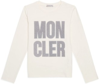 Moncler Kids Glitter Logo Embroidered T-Shirt (4-6 Years)