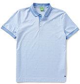 HUGO BOSS BOSS Green Genova Jacquard Short-Sleeve Polo Shirt