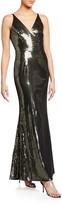Dress the Population Harper Plunging V-Neck Sequin Gown