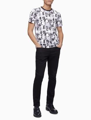 Calvin Klein Allover Skater Print Crewneck T-Shirt