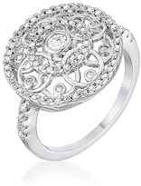 Kate Bissett Cubic Zirconia & Silvertone Interlocking Circle Ring