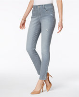 Style&Co. Style & Co Railroad Stripe Rip-detail Skinny Ankle Jeans, Only at Macy's
