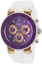 Mulco Mw370604015 Women's Blue Marine Chrono Silicone Purple Mop Dial Watch