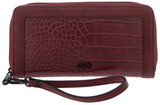 Jag Freya Zip-Around Burgundy Wallet