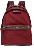 Stella McCartney Falabella Go Faux Leather-trimmed Shell Backpack - Claret