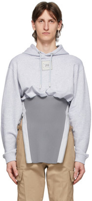 Burberry Grey Reconstructed Cotton Hoodie