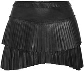Isabel Marant Jalyne pleated leather mini skirt